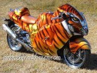 Tiger Busa Custom Paint Motorcycles Airbrush Bikes Funny