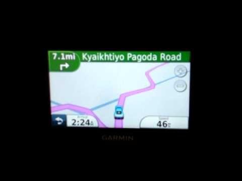 Myanmar Burma Garmin Map GPS - turn-by-turn voice guided GPS