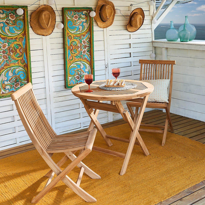 Set tavolo e sedie Amalfi in legno marrone 2 posti prezzi ...