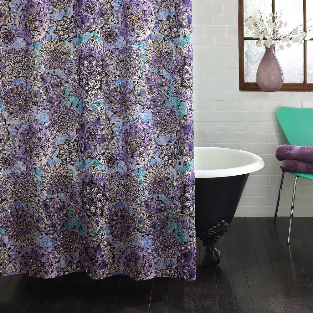 Excell Ode To Geode Purple Shower Curtain Home Fabric Shower