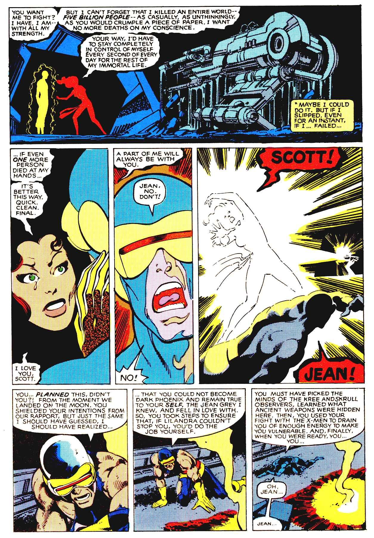 Jean Grey Sacrifices Herself To End The Nightmare Of The Dark Phoenix Uncanny X Men 137 Comics X Men Classic Comics
