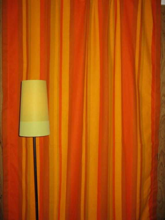 Orange Striped Curtainsi Love Them But Think I Want A Little More