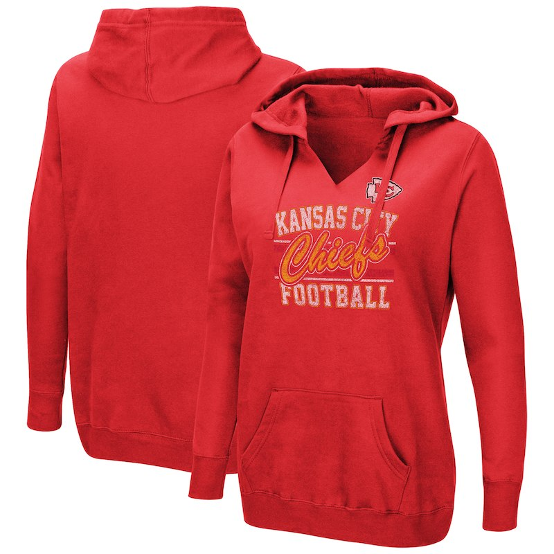 c8cff6c4 Kansas City Chiefs Majestic Women's Quick Out Plus Size Pullover V ...