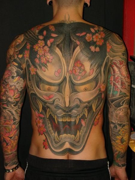 My Japanese Hannya Mask Tattoo Demon Art Pinterest Kevin O