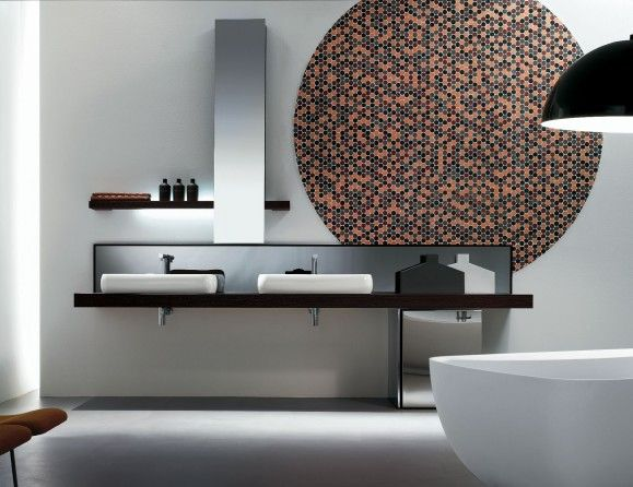Kubik 55 Wenge Wood Modern Italian Bathroom Vanities