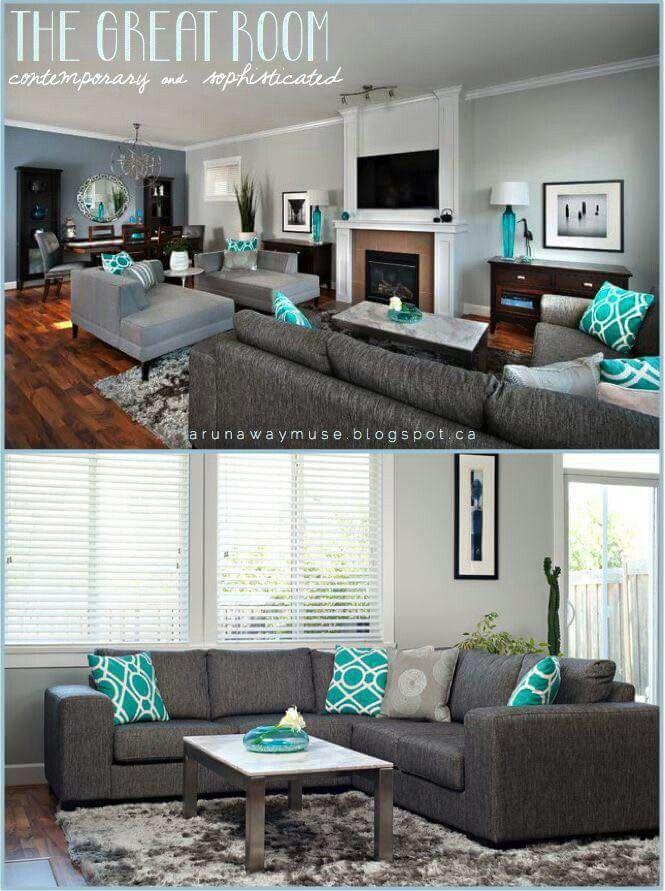 Sala azul Decoracin Pinterest