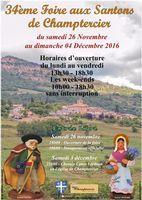 Foire aux santons de Champtercier (Akpes de Haute Provence) du 26 novembre au 4 décembre 2016