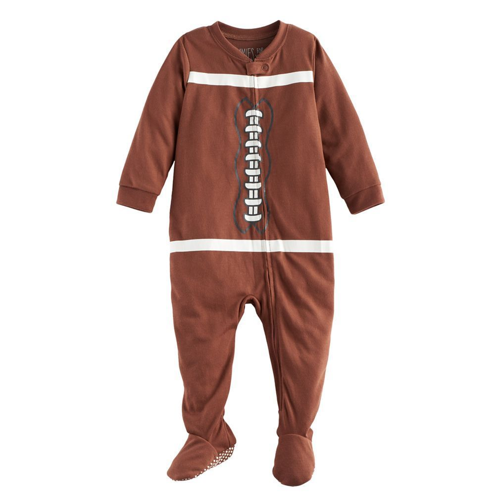 889c64898 Baby Jammies For Your Families Football Flannel Footed Pajamas ...