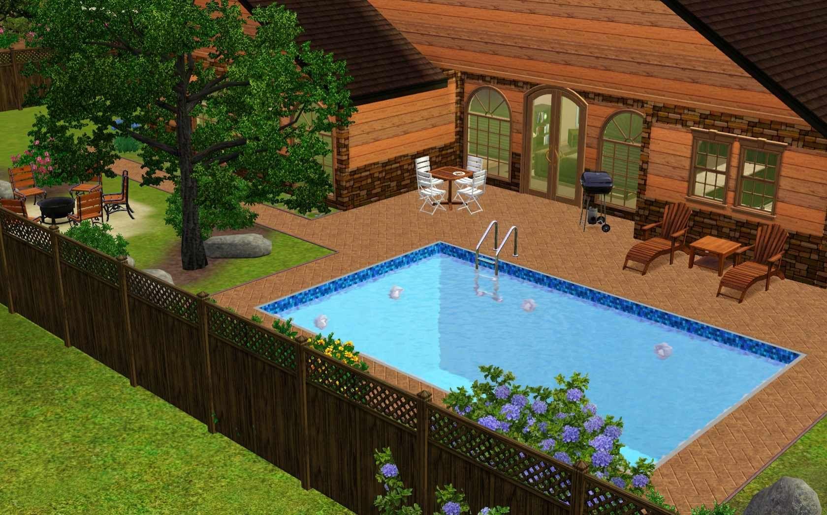 Nice Looking Sims 3 Garden Ideas Creative Decoration Backyard Ideas
