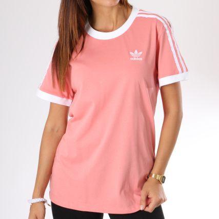 dd2605f197c4f adidas - Tee Shirt Femme 3 Stripes DH3186 Rose - LaBoutiqueOfficielle.com