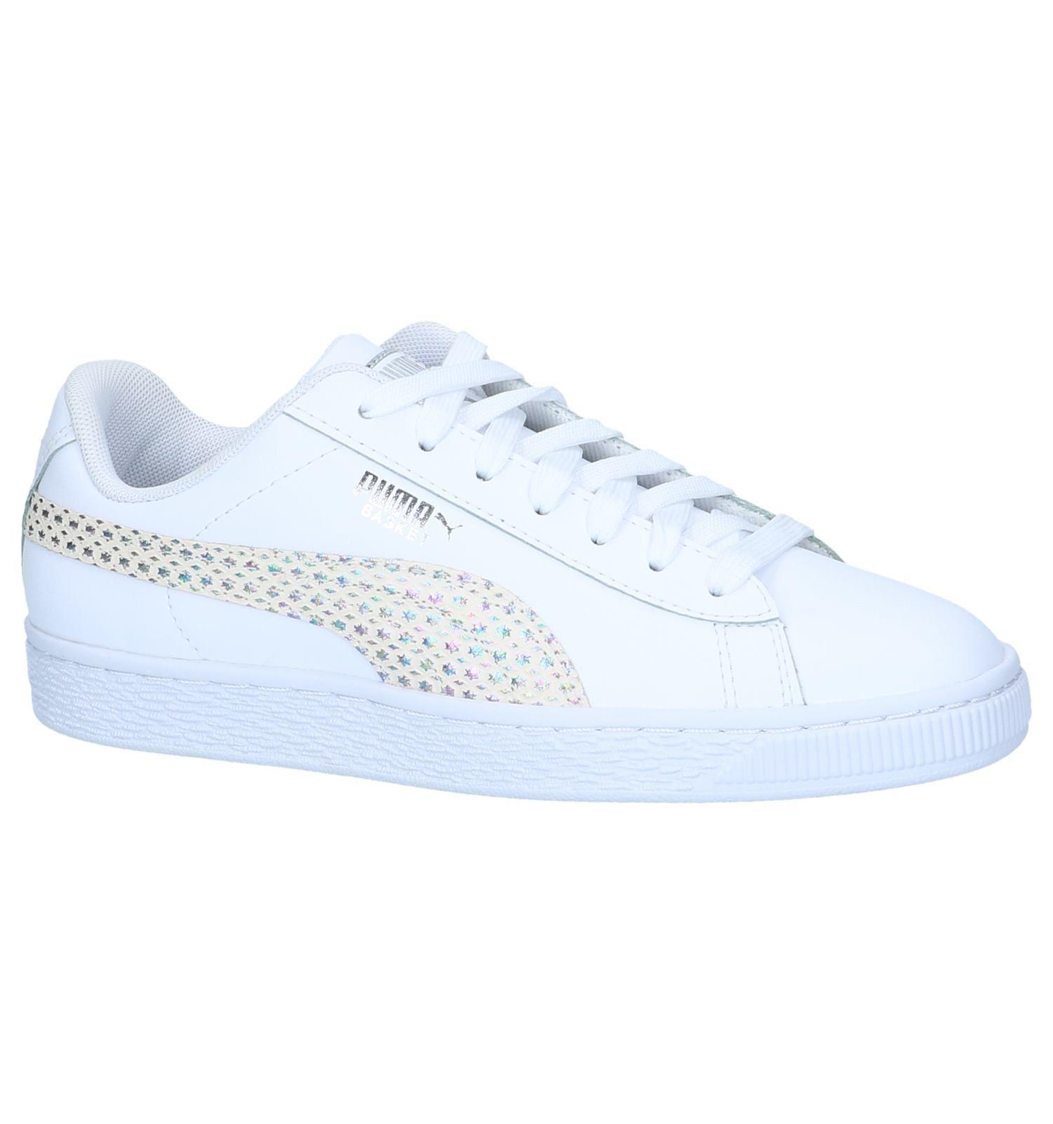 Witte Sneakers Puma Basket Chameleon | TORFS.BE | Gratis ...