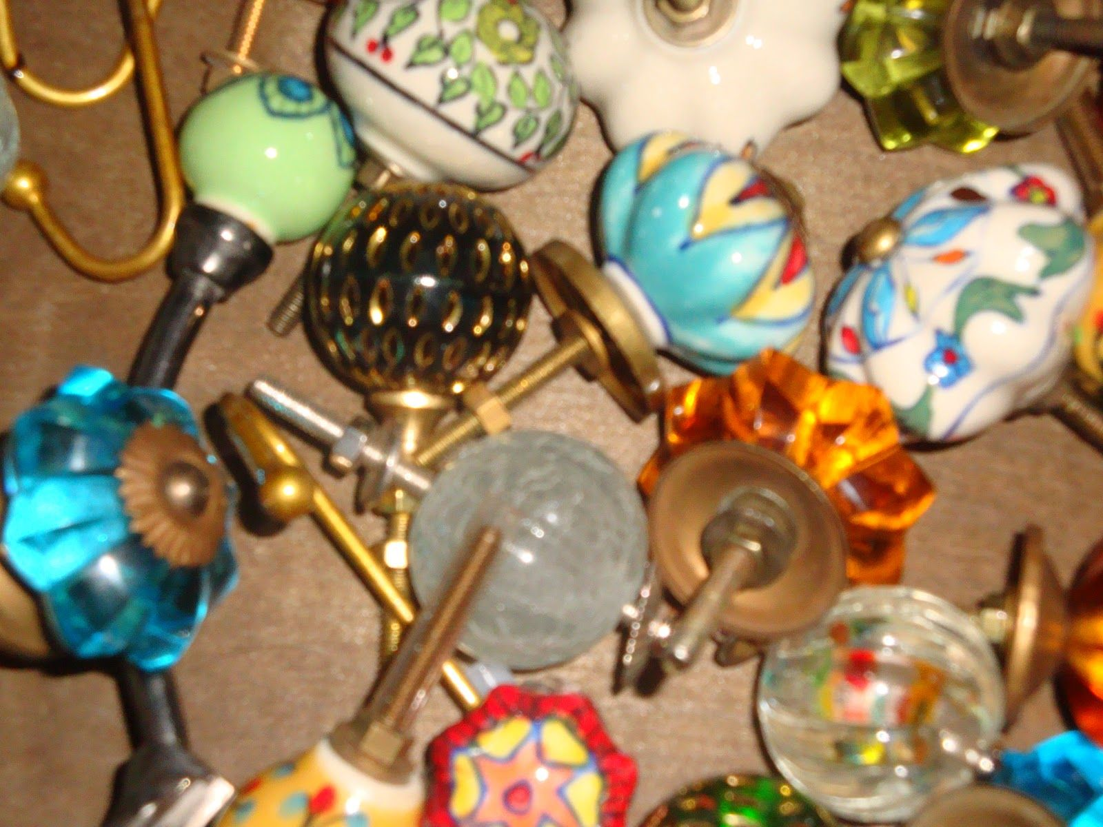 Vintage knobs or x-large beads for closet doors