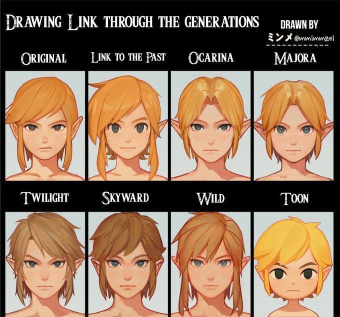 So cool! Link through the generations | Legend of Zelda - #cool