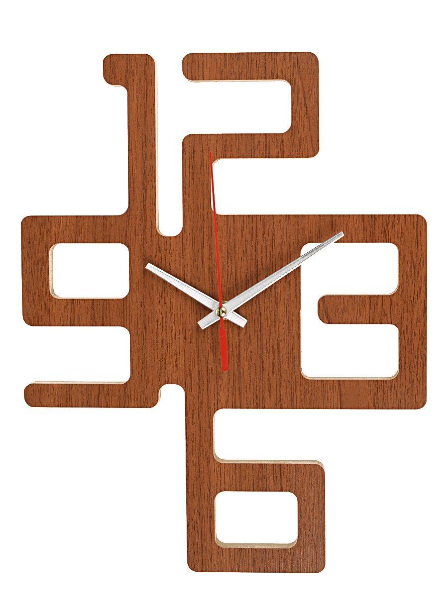 Dekoratif Duvar Saati Ahap Kare Saat WoodCrafts