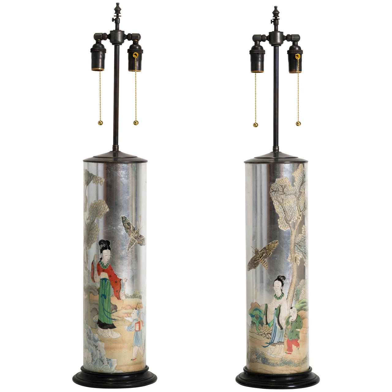 Glomis and decoupage chinoiserie glass table lamps decoupage glomis and decoupage chinoiserie glass table lamps arubaitofo Choice Image