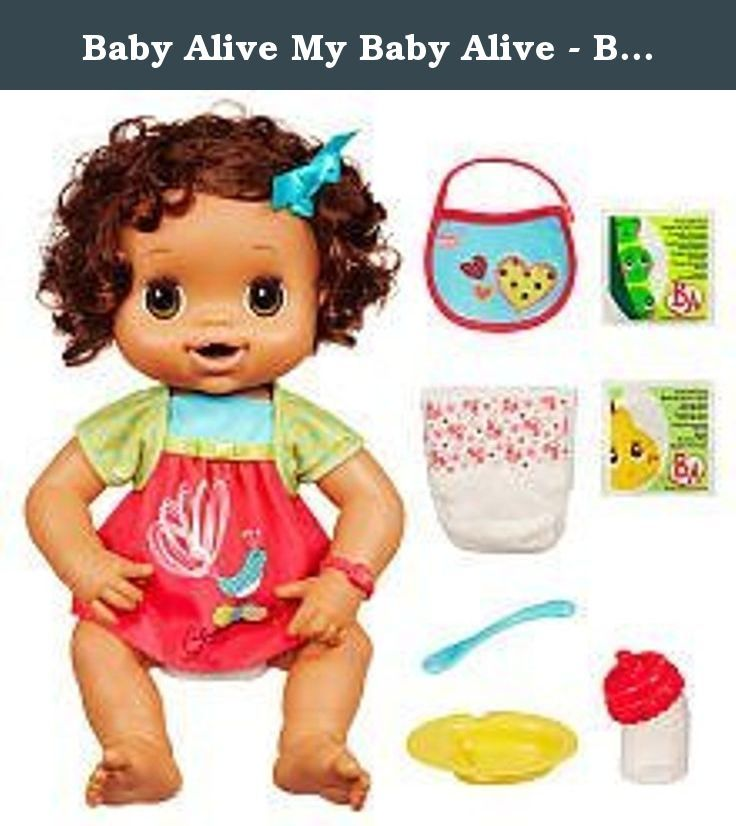Baby Alive My Baby Alive Brunette This Soft And Snuggly Baby Doll Eats Wets And Speaks Help Your Child Feed H Baby Alive Dolls Baby Alive Baby Alive Food