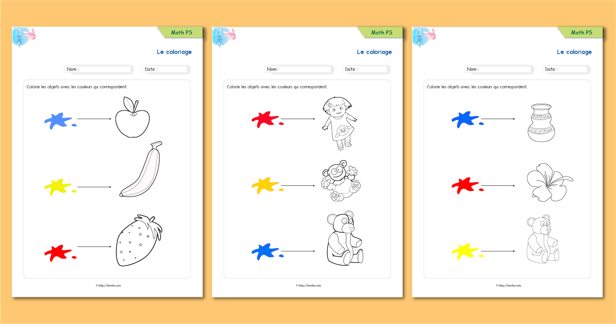 Le coloriage exercice de maths math matiques maternelle - Coloriage ps maternelle ...