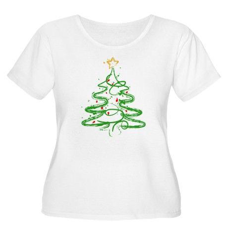 Christmas Tree Women S Plus Size Scoop Neck T Shirt Christmas Tree Plus Size T Shirt By Admin Cp16482282 Cafepress Plus Size T Shirts Tree T Scoop Neck Tee