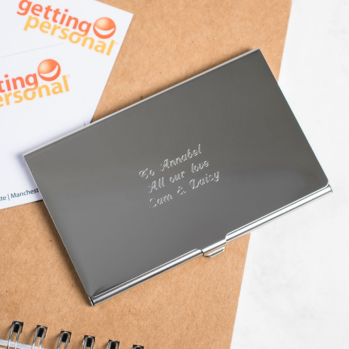 Engraved Business Card Holder Personalised Gifts For Him Business Card Holders Gifts For Him
