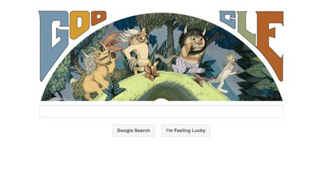 Maurice Sendak's 85th birthday: Google doodle goes where the wild things are