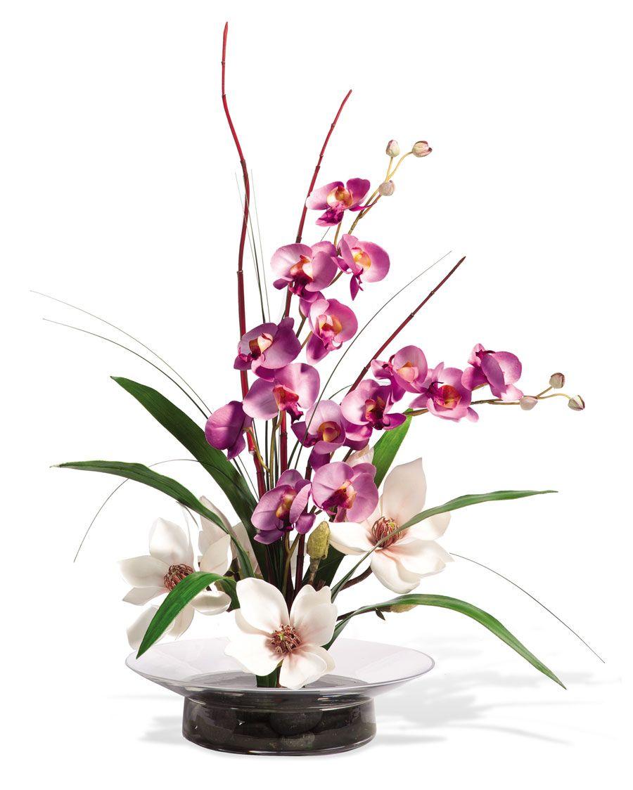 Magnolias Orchidssilk Flower Arrangement Arrangements