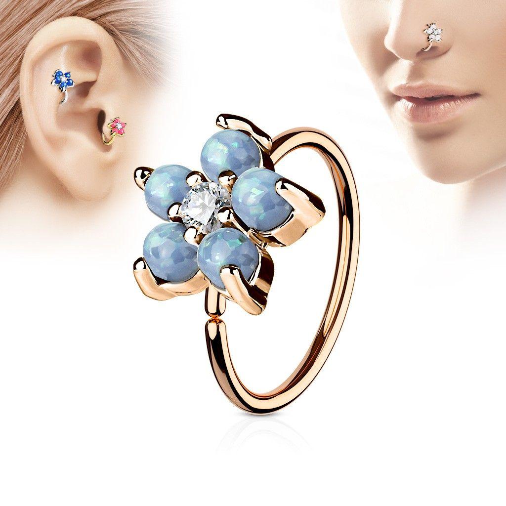 Fleur Cristal Chirurgical Piercing Oreille Stud Boucle d/'oreille Cartilage Helix Tragus Bijoux