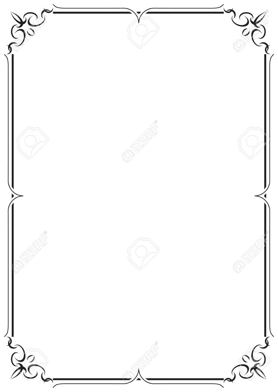 21924480-Vector-Frame-and-Border-Stock-Vector-border-simple.jpg (921 ...