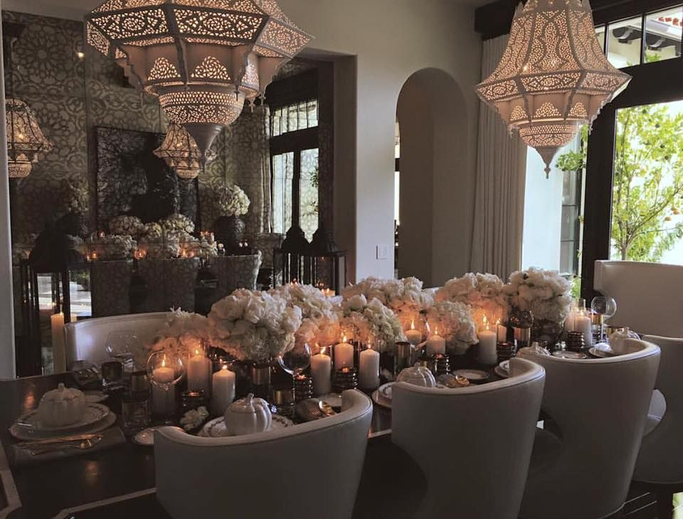 #Khloe Kardashian Thanksgiving Dinner | Home Decor ...