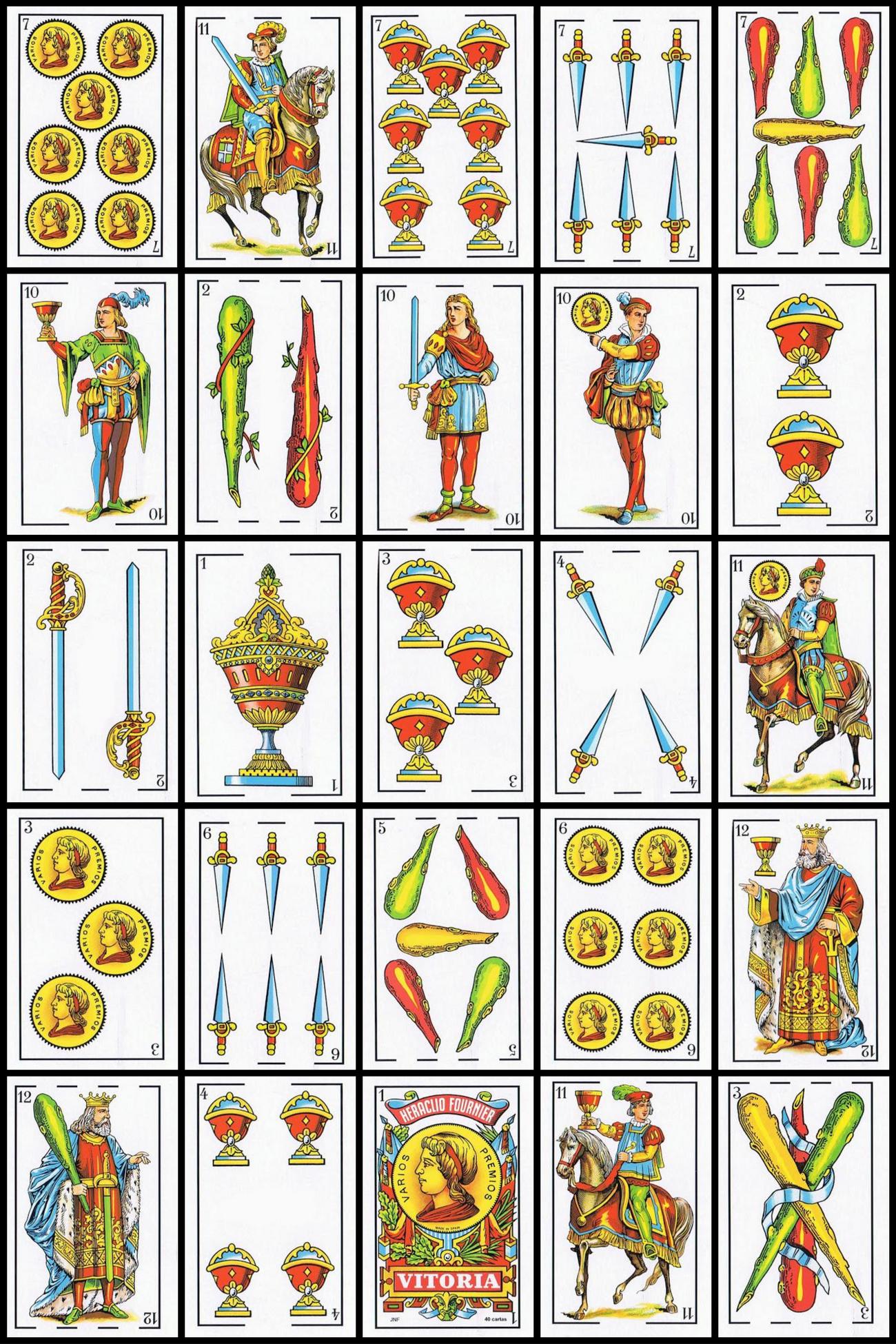 Cartones Del Poquino Baraja De Cartas Cartas Baraja Espanola Bingo Para Imprimir