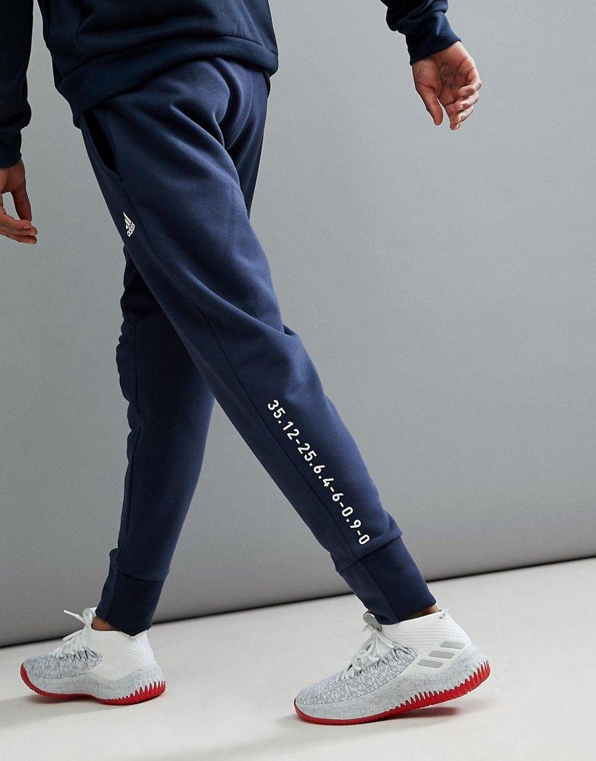 7fe586bee adidas Basketball Dame Pants In Navy CV7725 - Navy | 女装裤子 ...