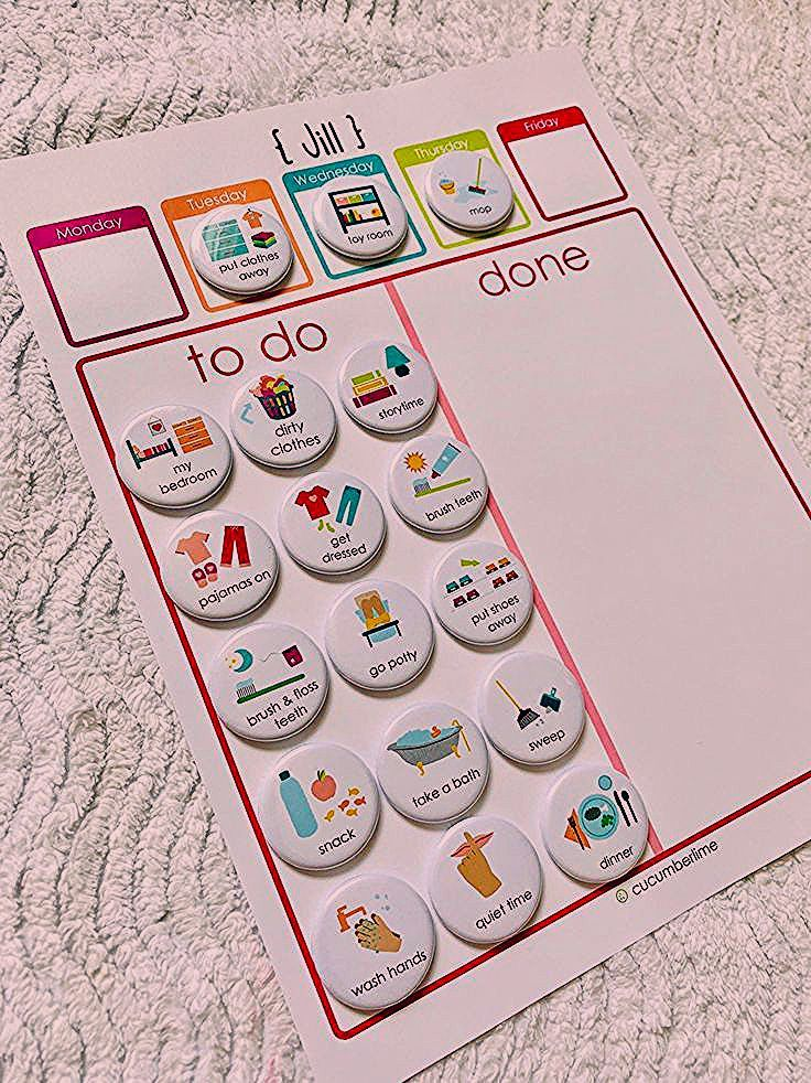 Photo of Printable Routine Chart- Morning/Evening Checklist, Kids Chore Chart, Kids Daily Responsibilities, D