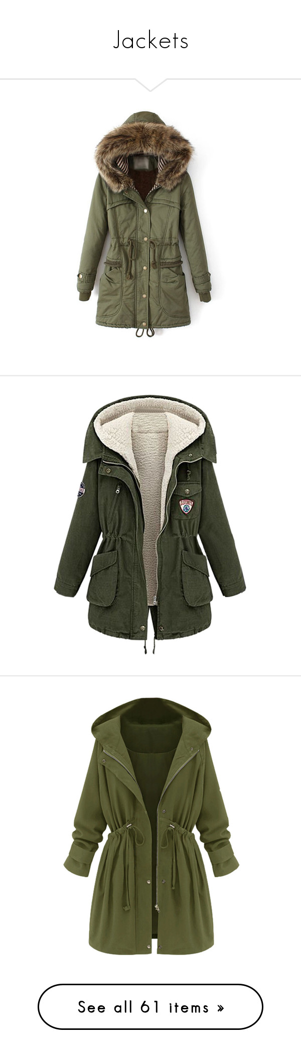 """""""Jackets"""" by lisi-860 ❤ liked on Polyvore featuring outerwear, coats, green, long coat, green hooded coat, long sleeve coat, hooded coats, print coat, jackets and tops"""