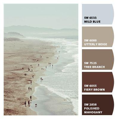 Beach Surf Muted Pale Light Aqua Blues Warm And Cool