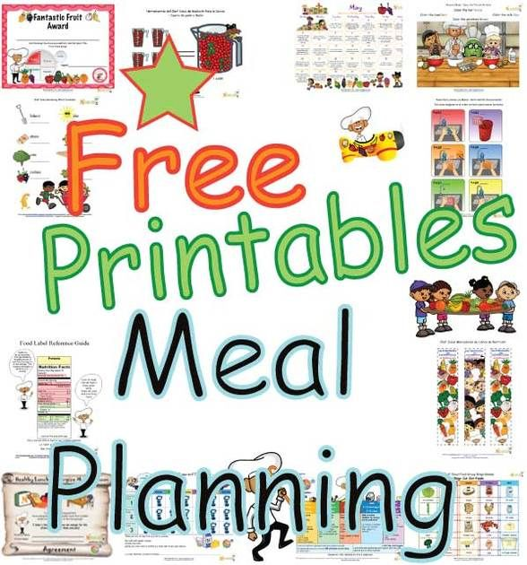 KMenu And Meal Planning Printables  Templates