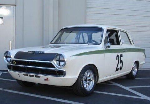 1965 lotus cortina mk1 vintage race car front sir john whitmore up sir