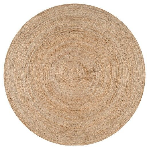 Off White Solid Woven Round Accent Rug 4 Nuloom Target