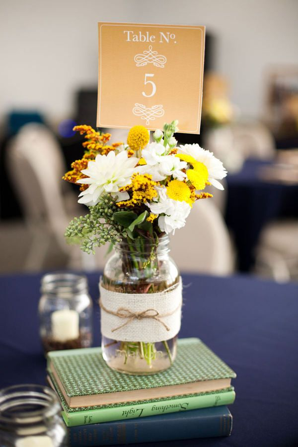 Mason Jar Centerpieces Styling Your Rustic Wedding Table Cards
