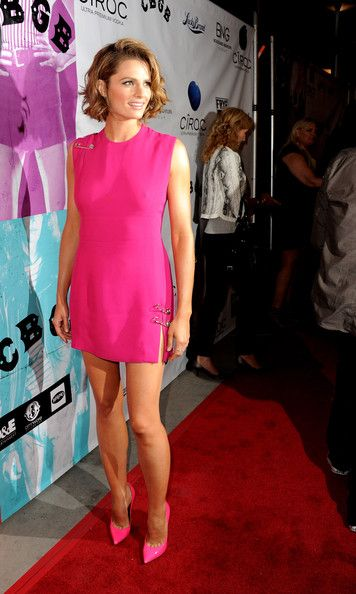 Actress Stana Katic arrives at the screening of XLrator