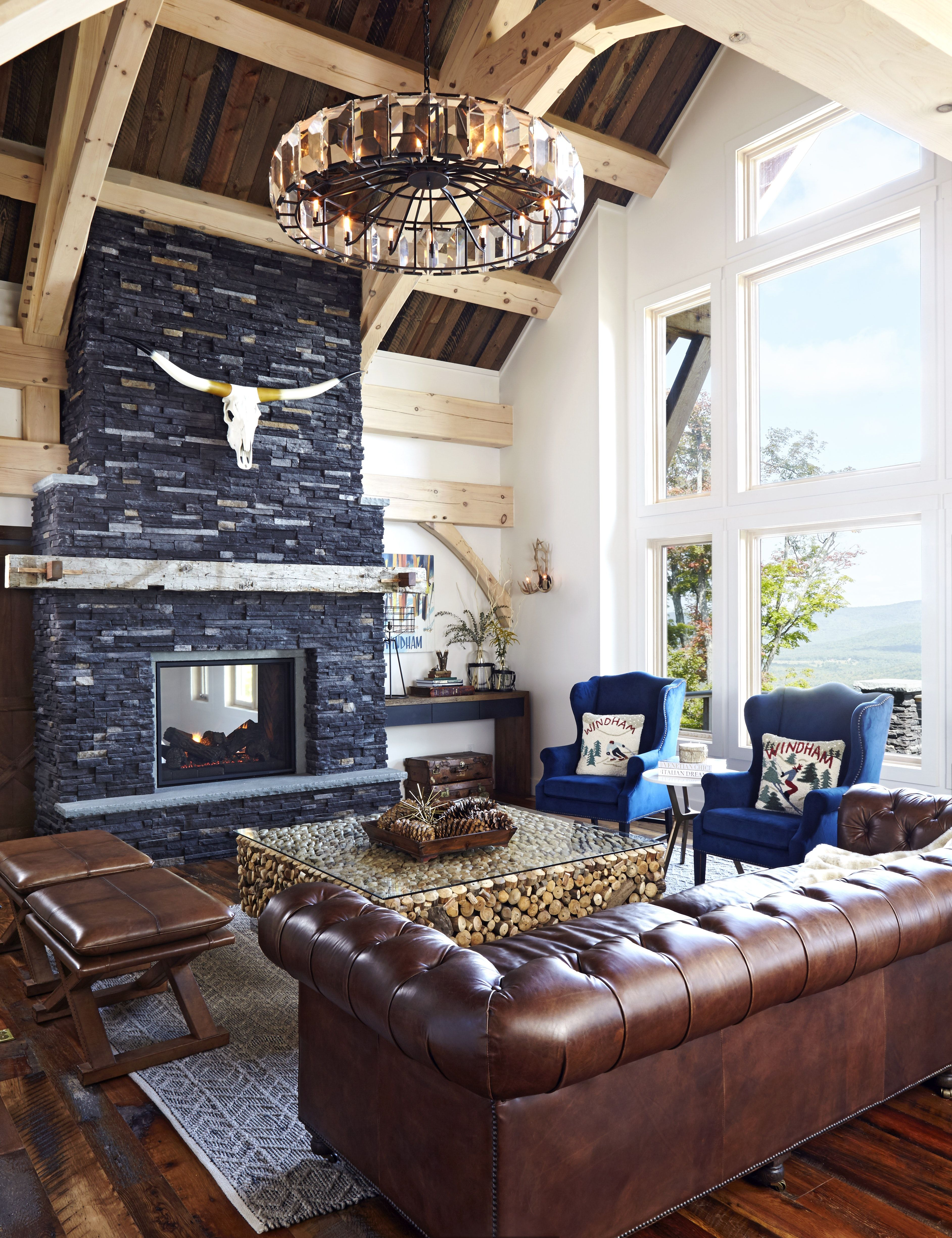 Cool Sunken Living Room Ideas For Your Dreamed House: Windham, NY By Kathy Kuo Designs