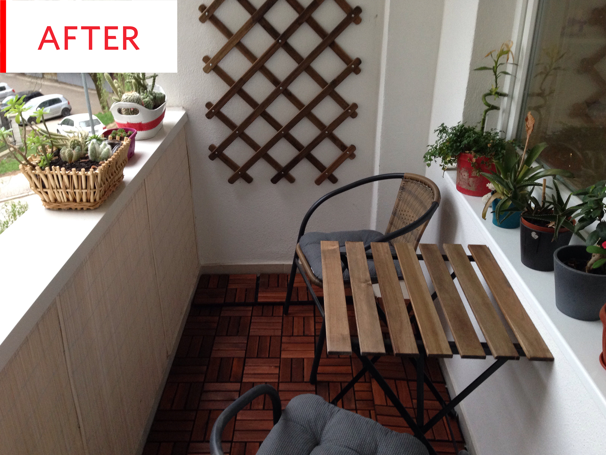 Before and After: This Cold, Concrete Balcony Gets an Easy $29
