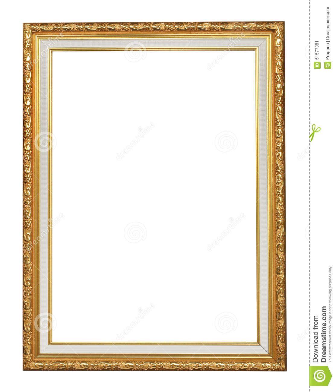 El marco antiguo del oro en el fondo blanco | CUADROS - MARCOS ...