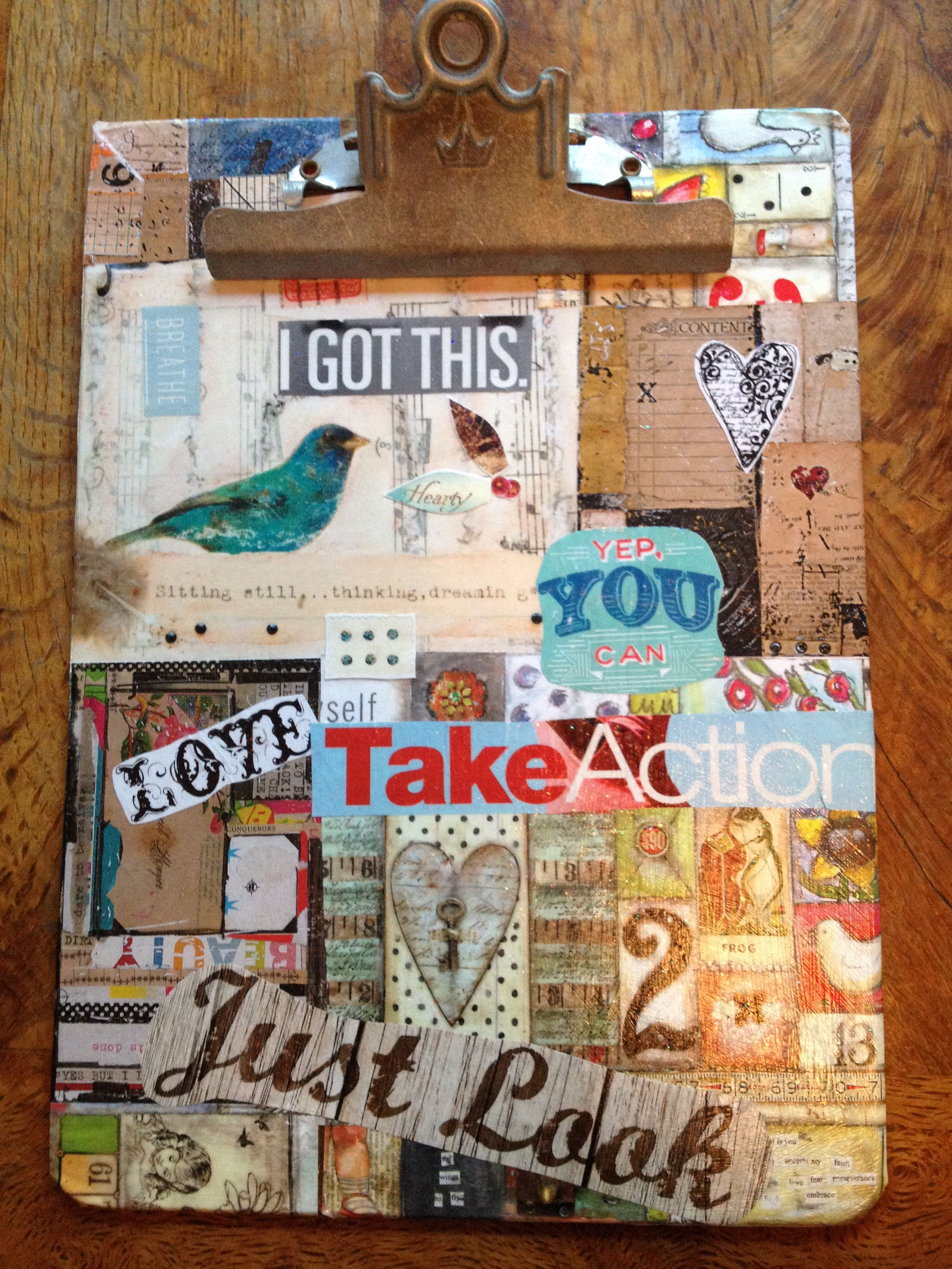 I got this! 2014 collage clip board