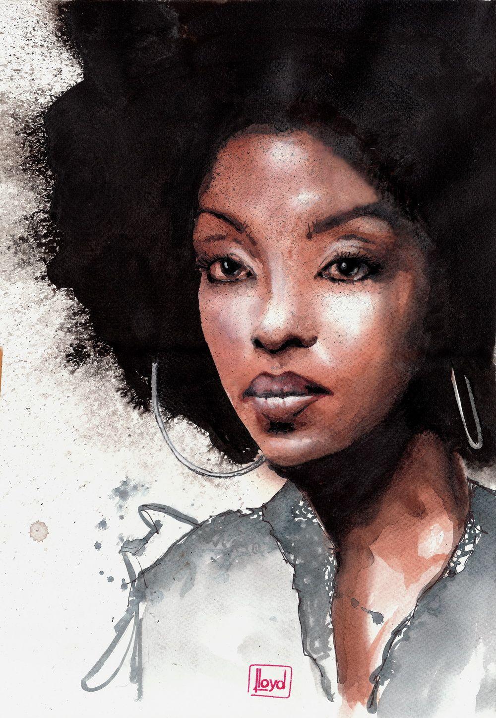 African American Art Black Art Woman Violet By Lloyd Art Deviant