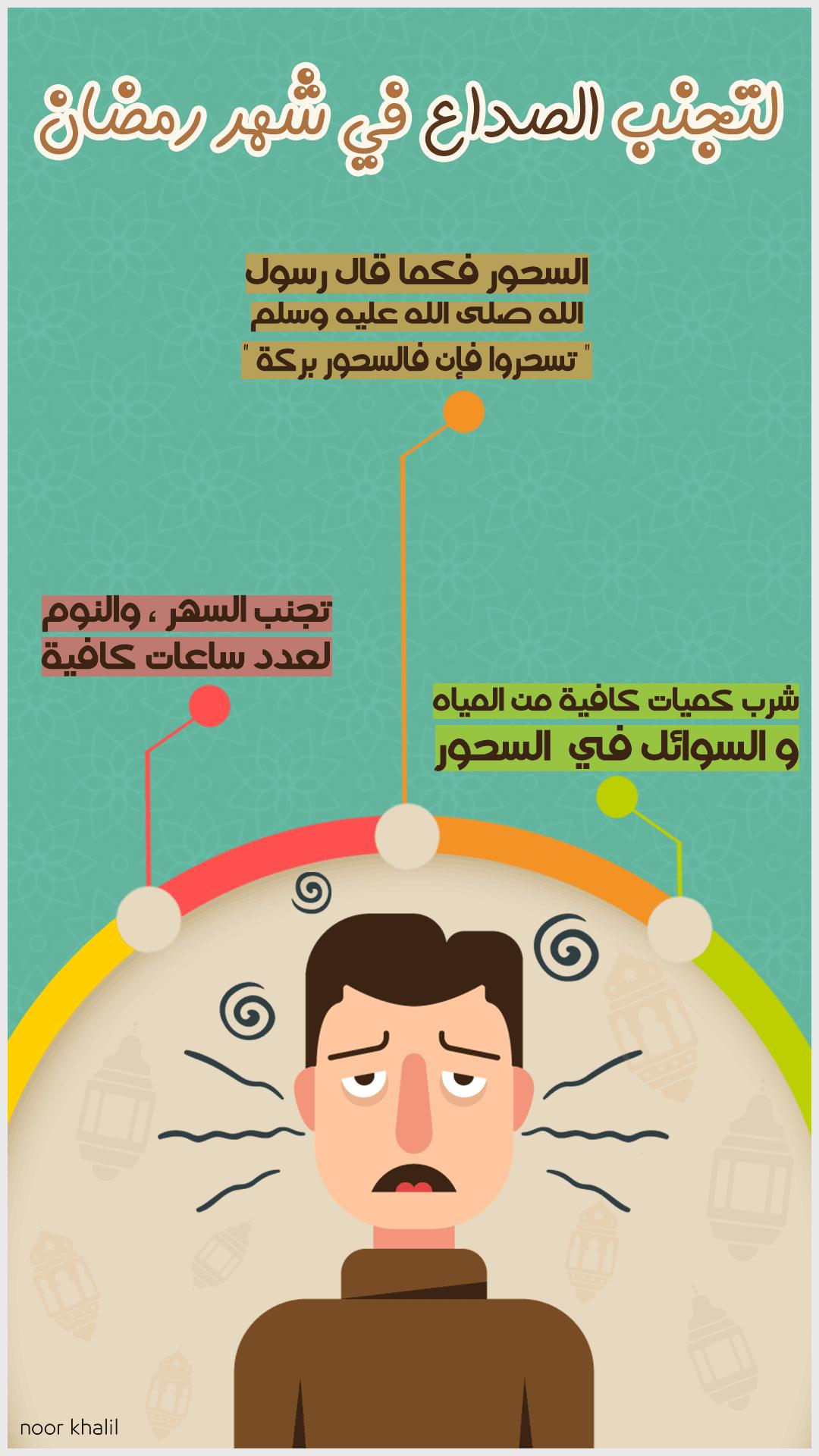 لتجنب الصداع في شهر رمضان Ramadan Crafts Ramadan Tips Ramadan