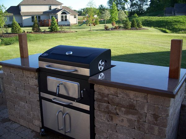 Built In Grill  Built In Charcol Grill Built In Grill With Paver Prepossessing Outdoor Kitchen Charcoal Grill Inspiration