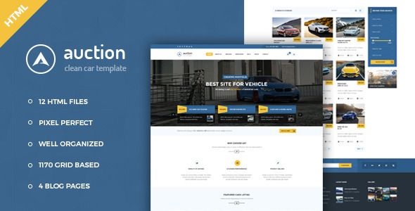 Auction Website Template Auction  Car Dealer & Mechanic Html Template Corporate Download