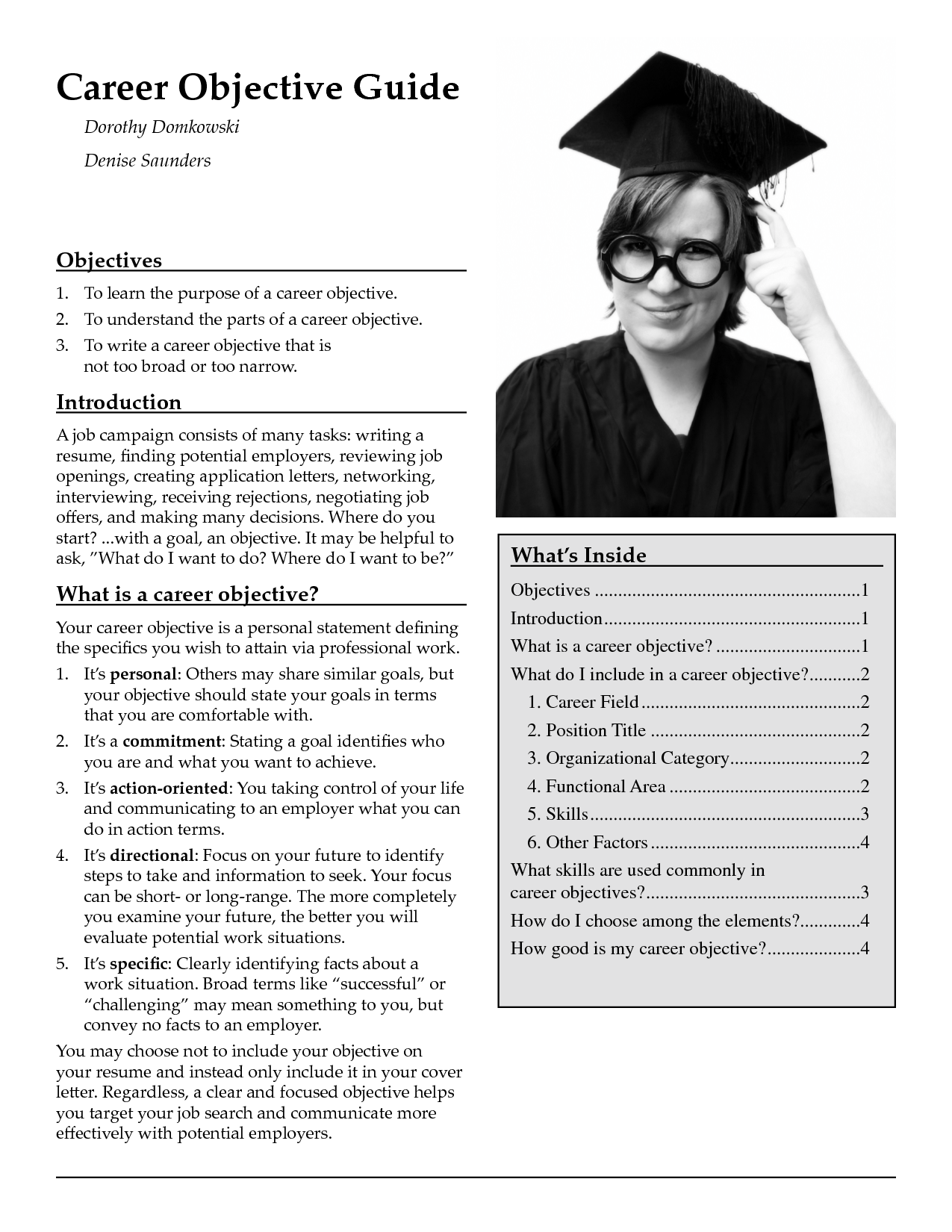 example of objectives in resume for fresh graduate