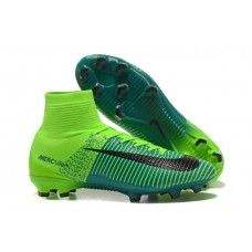 Best Nike Mercurial Superfly V FG High Top Soccer Cleats - Green Black 267837b50