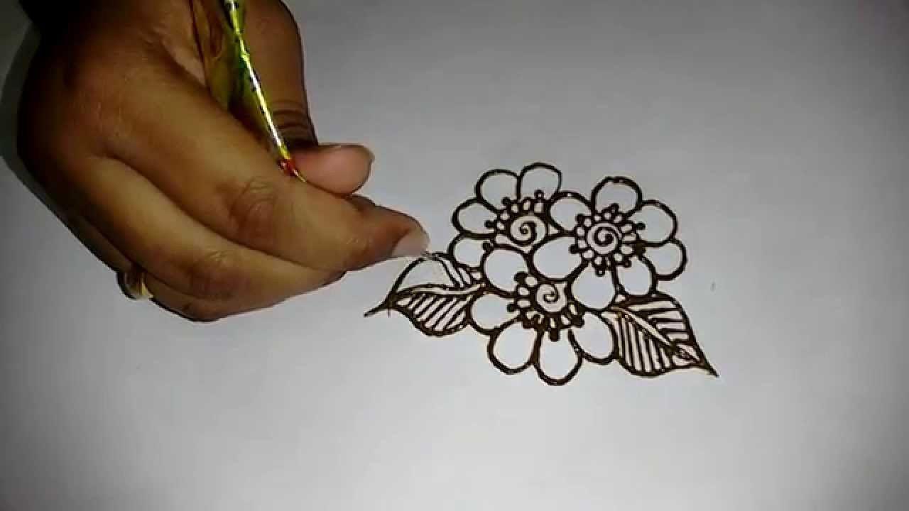Mehndi Drawings Simple Designs : Beautiful mehndi design for hands latest easy simple matroj