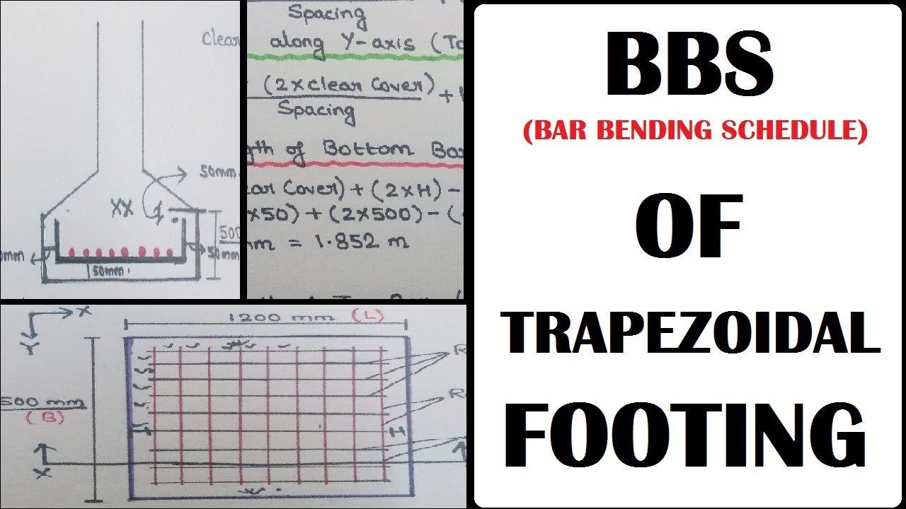 Bbs Bar Bending Schedule Trapezoidal Footing Rectangular Footing R How Internet Works Learning Technology Schedule